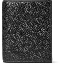 Thom Browne Pebble Grain Leather Bifold Cardholder Black