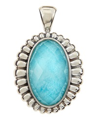 Lagos Venus Fluted Crystal And Turquoise Doublet Pendant