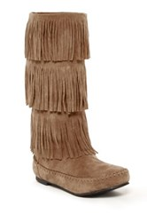 Charles Albert Fringe Boot Brown