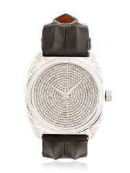 Christian Koban Dom White Diamond And Steel Watch