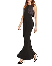 Ralph Lauren Back Bow Gown Black