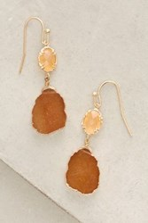 Anthropologie Reflection Earrings Peach