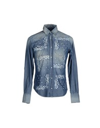 Consumers Guide Denim Denim Shirts Men Blue