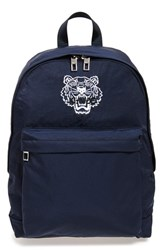 Men's Kenzo Embroidered Tiger Backpack Blue Midnight Blue