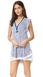Poupette St Barth Sasha Mini Dress Blue Flower