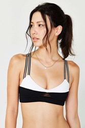 Blue Life Fit Colorblock Bralette Black