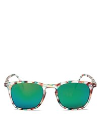 See Concept Mirrored Letmesee Collection E Sunglasses 35Mm Green Tortoise Green Mirror