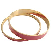 Tuleste Skinny And Wide Enamel Channel Bangles Gold