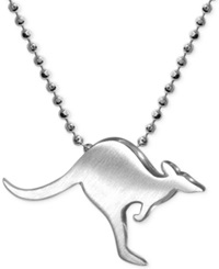 Little Cities By Alex Woo Kangaroo Pendant Necklace In Sterling Silver