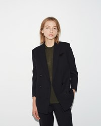 Alexander Wang Double Breasted Blazer Indigo