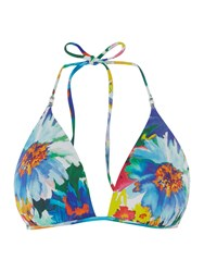 Polo Ralph Lauren Daisy Floral Tall Moulded Triangle Bikini Top Multi Coloured