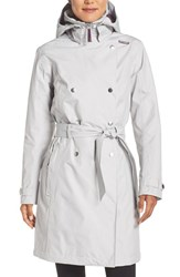Helly Hansen Women's 'Welsey' Waterproof Trench Coat Light Grey