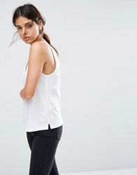 Asos V Front And Back Cami Top White