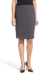 T Tahari Women's 'Linda' Suit Skirt Charcoal Heather