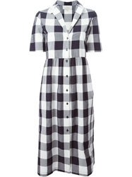 Studio Nicholson 'Machida' Gingham Dress Black