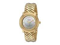 Versace Dv25 Round Lady Vam04 0016 Blue Yellow Gold White Watches