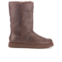 Ugg Women's Michelle Leather Classic Slim Sheepskin Boots Stout Brown