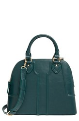 Sole Society 'Marlow' Structured Faux Leather Dome Satchel Green Woodland Green