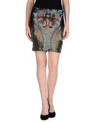 Haute Hippie Mini Skirts Grey
