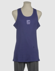 Karl Kani Sleeveless T Shirts Dark Purple