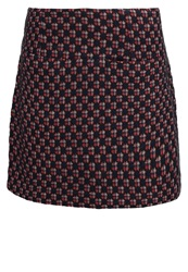 King Louie Marais Mini Skirt Bering Blue Dark Blue