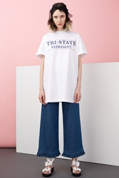 Chloe Sevigny For Opening Ceremony Tri State Embroidered Dress Navy Multi