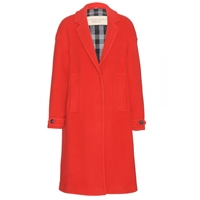 Burberry Marstead Wool Blend Coat Bright Military Red