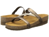 Naot Footwear Hawaii Grecian Gold Leather Women's Sandals Brown
