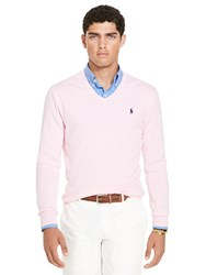 Polo Ralph Lauren Slim Fit V Neck Jumper Carmel Pink