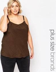 New Look Inspire Buckle Strap Cami Green