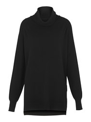 Whistles Cashmere Cowl Neck Knit Black