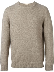 Massimo Alba Crew Neck Sweater Brown