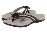 Aetrex Selena Thong Sandal Black Women's Toe Open Shoes