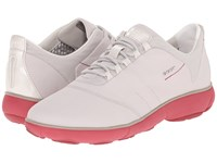 Geox Wnebula2 Off White Coral Women's Shoes