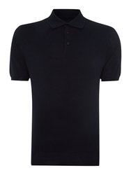 Peter Werth Joey Pattern Slim Fit Polo Shirt Navy