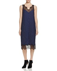 Whistles Martha Lace Trim Dress 100 Bloomingdale's Exclusive Navy