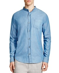 Vince Melrose Chambray Banded Collar Slim Fit Button Down Shirt Hudson Street