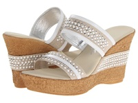 Onex Breeze White Silver Women's Wedge Shoes