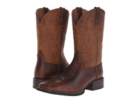 Ariat Sport Western Wide Square Toe Fiddle Brown Powder Brown Cowboy Boots