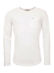 Garcia Long Sleeved Cotton Top Off White