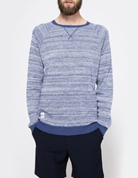 Native Youth High Twist Knitted Crew Blue