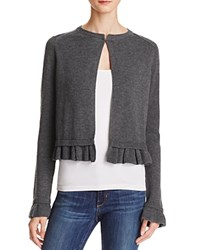 Aqua Ruffle Sleeve Shrug Cardigan Heather Grey