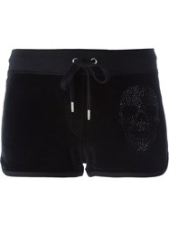 Philipp Plein Skull Embellished Shorts Black