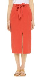 Free People Easy Breezy Skirt Bright Red