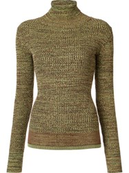 Apiece Apart Turtleneck Ribbed Jumper Brown