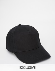 Reclaimed Vintage Baseball Cap Black