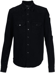 Amiri Distressed Denim Shirt Black