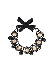 Night Market 'Crystal Drop' Necklace Black
