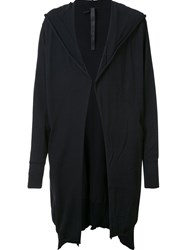 Barbara I Gongini Jogging Thin Hooded Cardigan Black