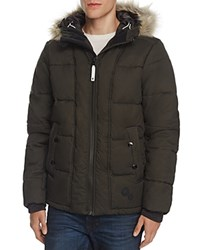G Star Raw Whistler Faux Fur Trim Hooded Jacket Asfalt